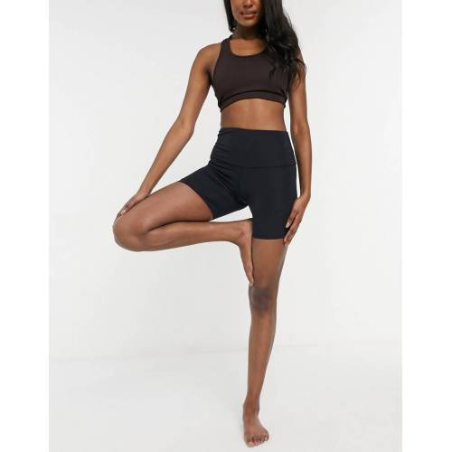 Onzie – Yoga-Legging-Shorts mit hohem Bund in Schwarz S
