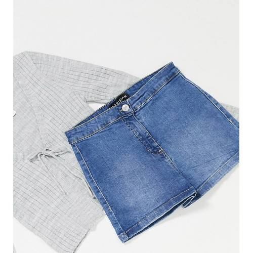 Parisian Petite – Jeans-Hotpants in Blau 42