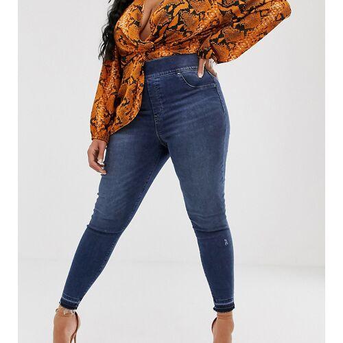 Spanx Plus – Enge Jeans im Used-Look-Blau XL1