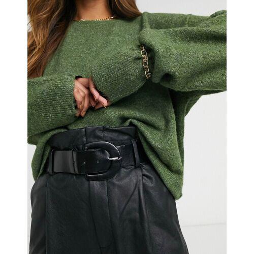 Vero Moda – Kastenförmiger Pullover in Dunkelgrün S
