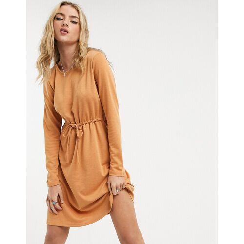 Vila – Kleid mit Taillengürtel in Orange M