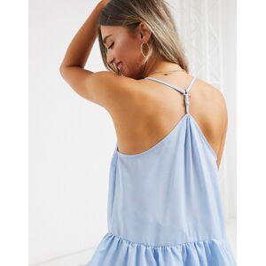 ASOS DESIGN – Camisole mit Schößchensaum in Blau 36