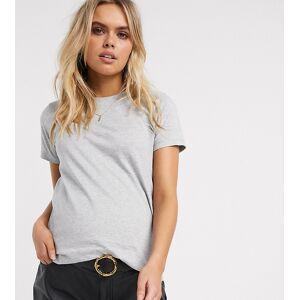 ASOS Maternity ASOS DESIGN – Umstandsmode – Ultimate– Kalkgraues T-Shirt aus Bio-Baumwolle mit Rundhalsausschnitt 40