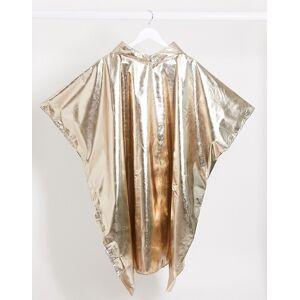 Monki – Poncho in Gold-Metallic Einheitsgröße