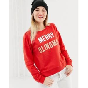 Only – Merry Blingmas – Weihnachtspullover-Rot XS