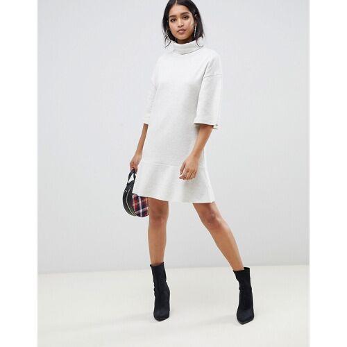 ASOS DESIGN - Sweatshirt-Minikleid mit Rollkragen - Beige