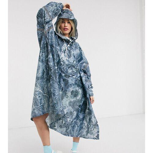 365 Dry – Wasserfeste Regenjacke mit Marmormuster-Blau XS/S