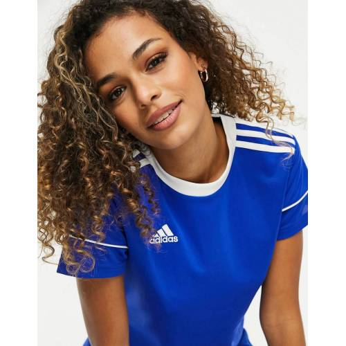 adidas performance adidas – Fußball – T-Shirt mit Logo in Blau XS