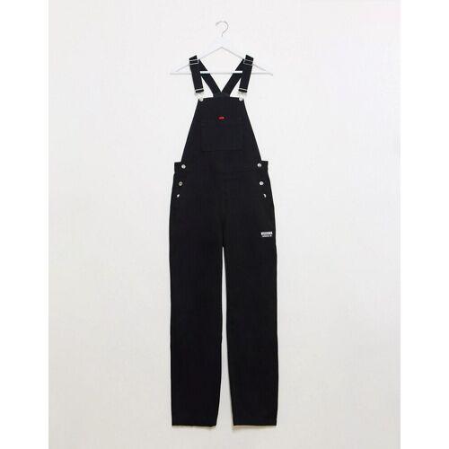 adidas Originals – RYV – Schwarze Latzhose 34