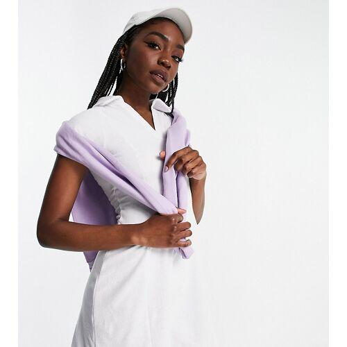 ASOS 4505 Tall – Tenniskleid aus Jerseystoff-Weiß 36