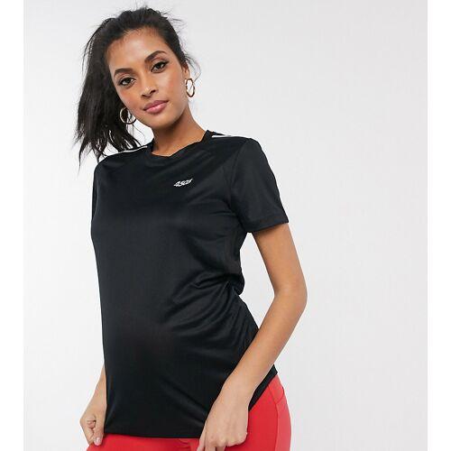ASOS 4505 – Umstandsmode – Lauf-T-Shirt mit Logo-Schwarz 40