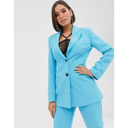 ASOS DESIGN – Pop – Taillierter Anzugblazer-Blau 34