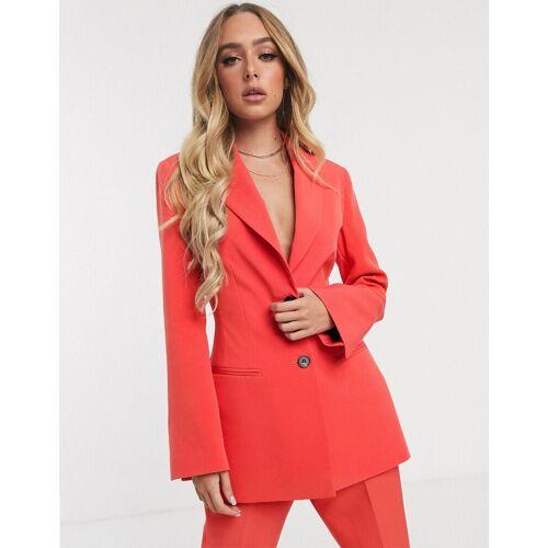 ASOS DESIGN – Pop – Taillierter Anzugblazer-Rot 32
