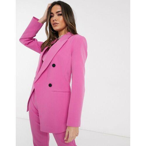 ASOS DESIGN – Pop – Taillierter Anzugblazer in Rosa 32