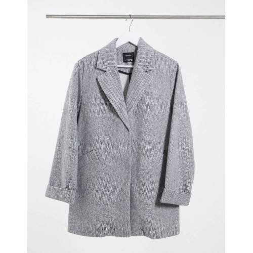 Bershka – Mantel in Grau L
