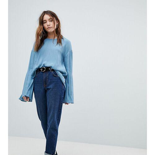 Bershka – Mom-Jeans-Blau 38