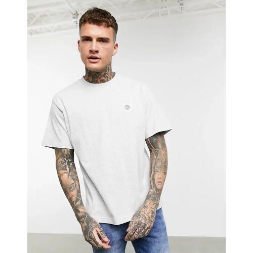 Celio – Graues T-Shirt mit Print auf der Brust S