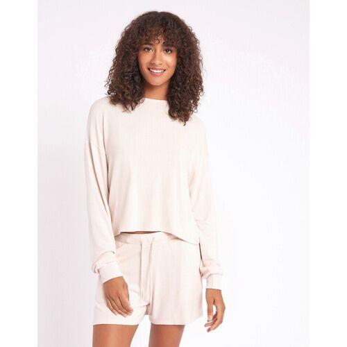 Chelsea Peers – Lounge-Shorts aus weichem Jersey in Creme-Weiß XL