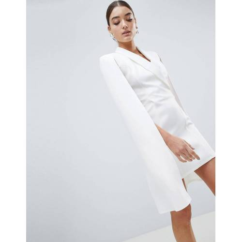 Club L London Club L – Blazer-Kleid mit Capedesign-Weiß 38
