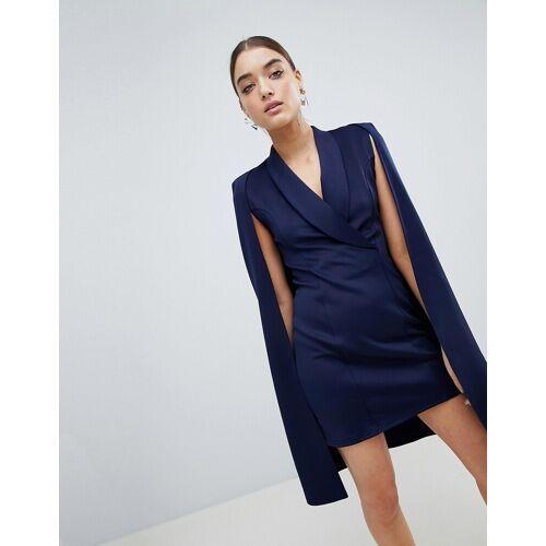 Club L London Club L – Blazer-Kleid mit Capedesign-Navy 36