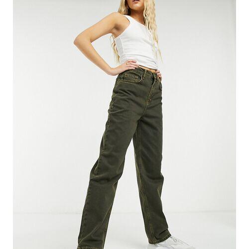 COLLUSION x014 – Schwarze Dad-Jeans mit gelblicher Waschung W32 L26