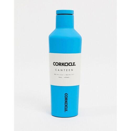 Corkcicle – Neon Lights – Wasserflasche in mattem Neonblau, 475 ml No Size