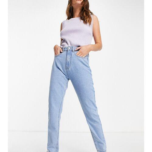 Daisy Street – Mom-Jeans aus gebleichtem Jeansstoff-Blau 40