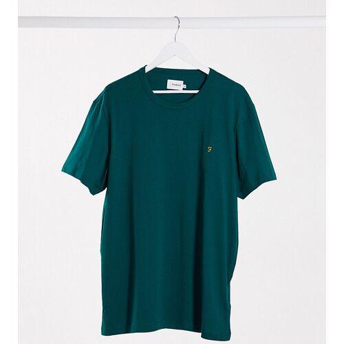Farah – Danny – Schmales T-Shirt mit Logo in Grün XXXXXXL