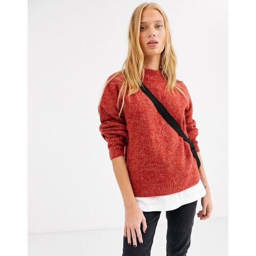 Ichi – Hochgeschlossener Pullover-Rot L