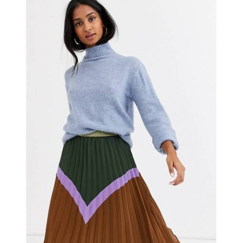 Ichi – Hochgeschlossener Pullover-Blau M
