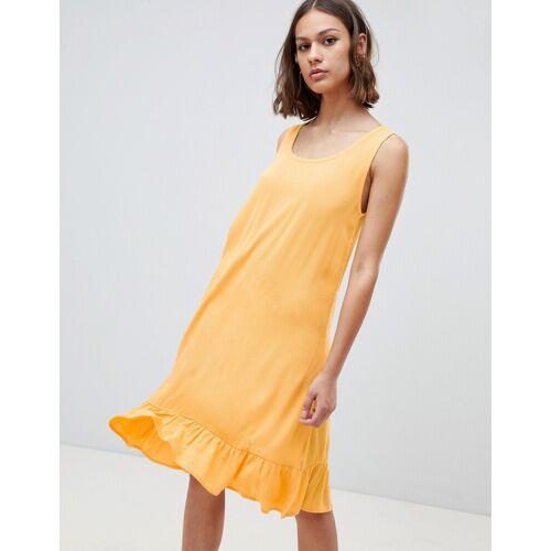 Ichi – Trägerkleid mit tief angesetzter Taille-Gelb XS