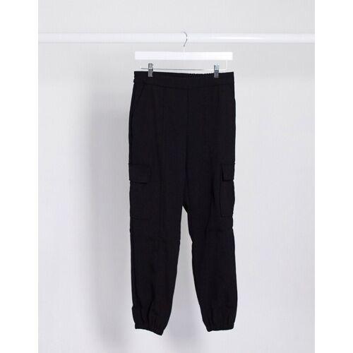 JDY – Zane – Schwarze Denim-Hose mit Taschen 36
