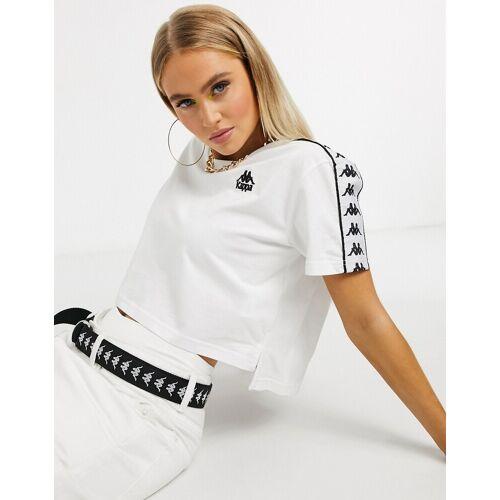 Kappa – T-Shirt in Weiß L