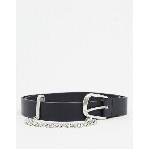 Levis Levi's – Femme – Ledergürtel mit Kette inSchwarz 80cm