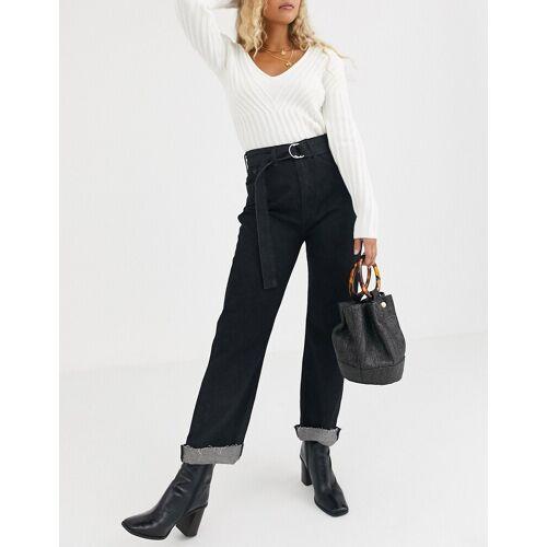 Maison Scotch – Bextra – Hochgekrempelte Jeans mit Gürtel-Navy W27