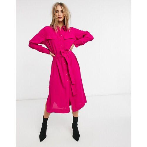 Mango – Midi-Hemdkleid in Rosa M