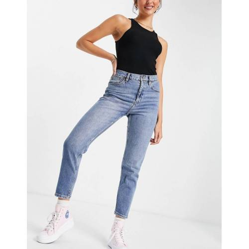 Mango – Mom-Jeans in Hellblau 32