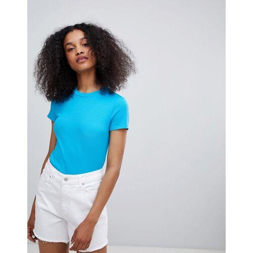 Monki – Schmales T-Shirt-Grün S