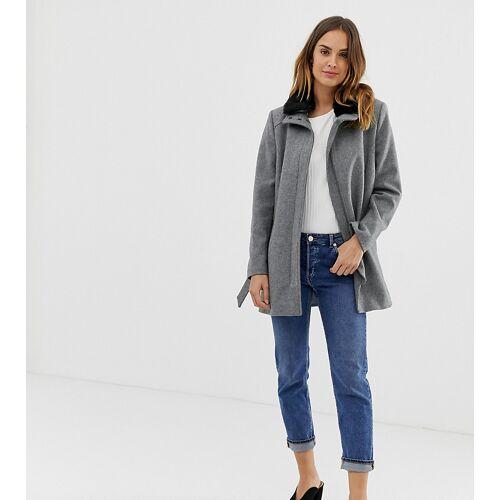 Naf Naf – Eleganter Mantel mit Gürtel-Grau 44