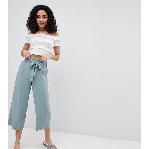New Look – Hosenrock mit kurzem Schnitt und weitem Bein-Grün 32