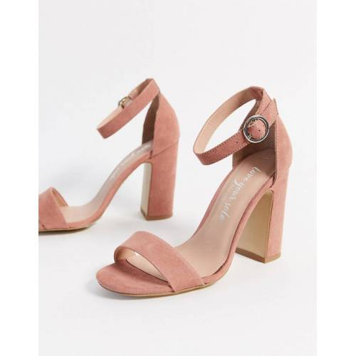 New Look – Sandalen mit Blockabsatz-Rosa 36