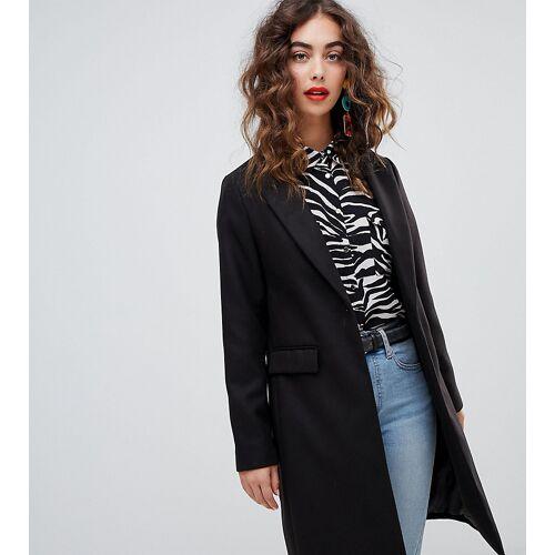 New Look – Schwarzer, taillierter Mantel 34