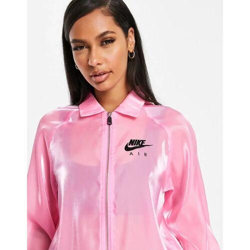 Nike – Air – Transparente Jacke in Rosa XS