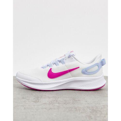 Nike Running – All Day Run 2 – Sneaker in Weiß und Rosa 38