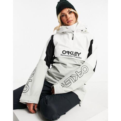 Oakley – TNP – Isolierter Ski-Anorak in Weiß/Grau XS