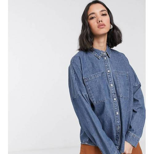 Only – Blaues Oversize-Jeanshemd M