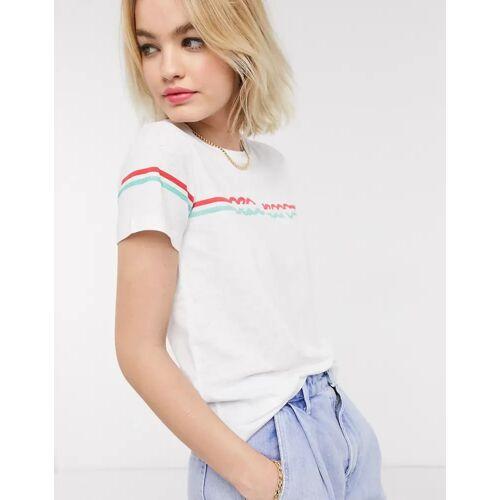 Pepe Jeans – Lola – T-Shirt im Stil der 70er in Weiß S