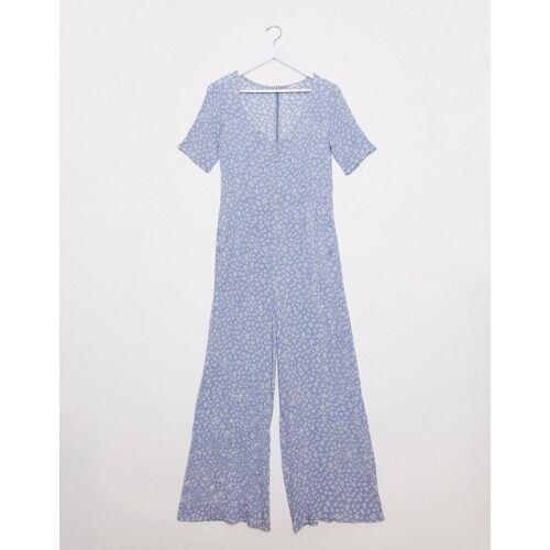 Pimkie – Hellblauer Jumpsuit mit floralem Muster 40
