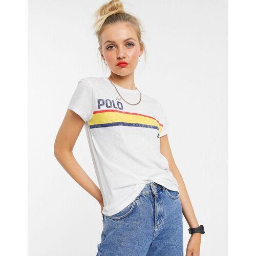 Polo Ralph Lauren – T-Shirt mit erhabenem Logo-Weiß L