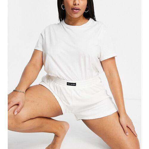 Public Desire Curve – Pyjama-Shorts aus Frottee in gebrochenem Weiß 46